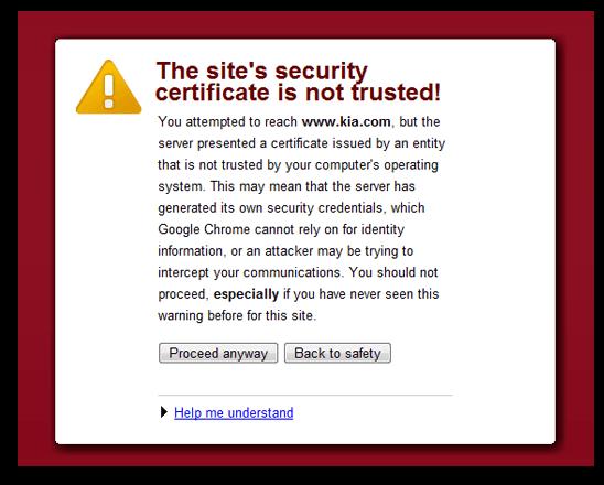 Site Security Certificate